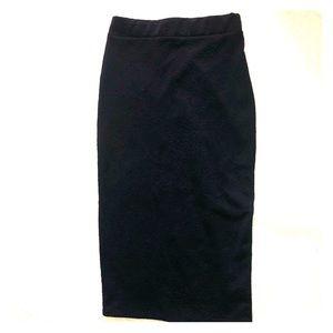 Midi high rise skirt